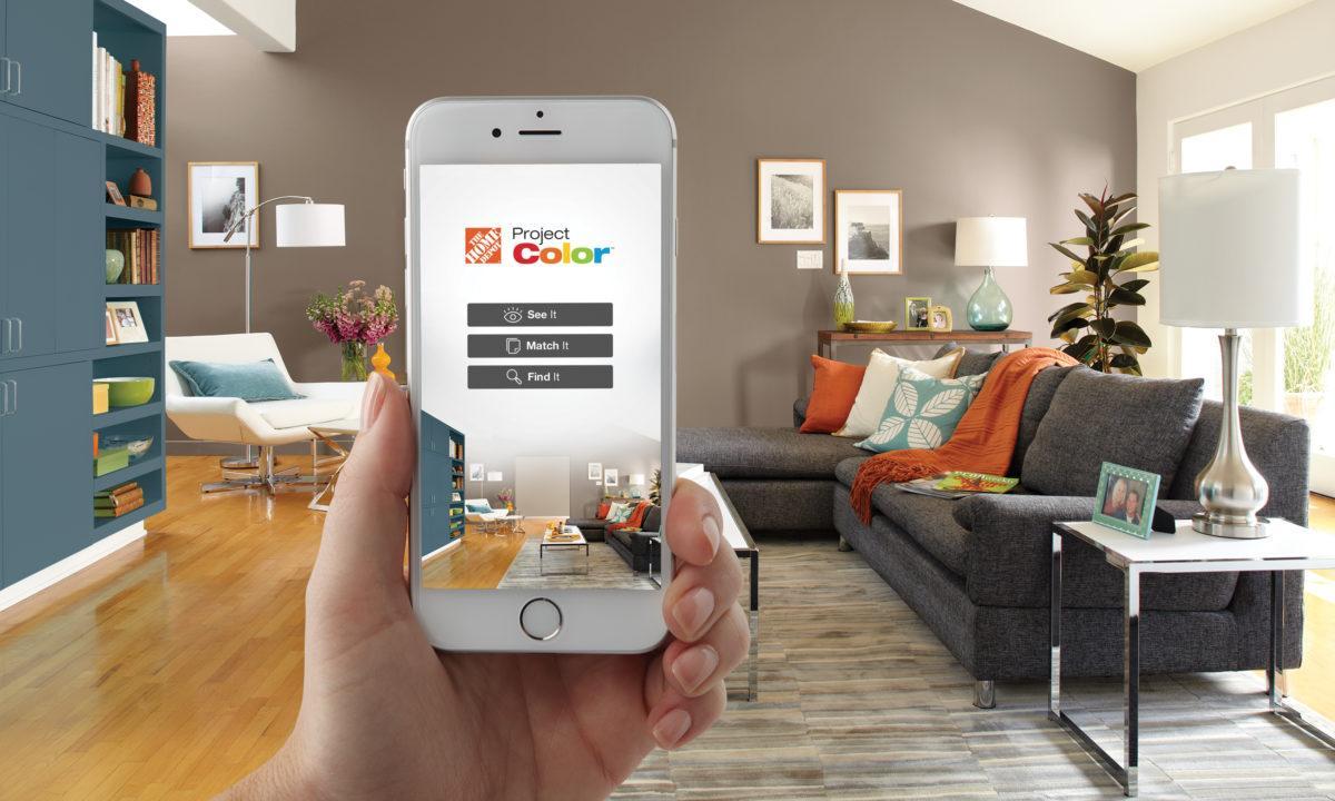 home depot paint app