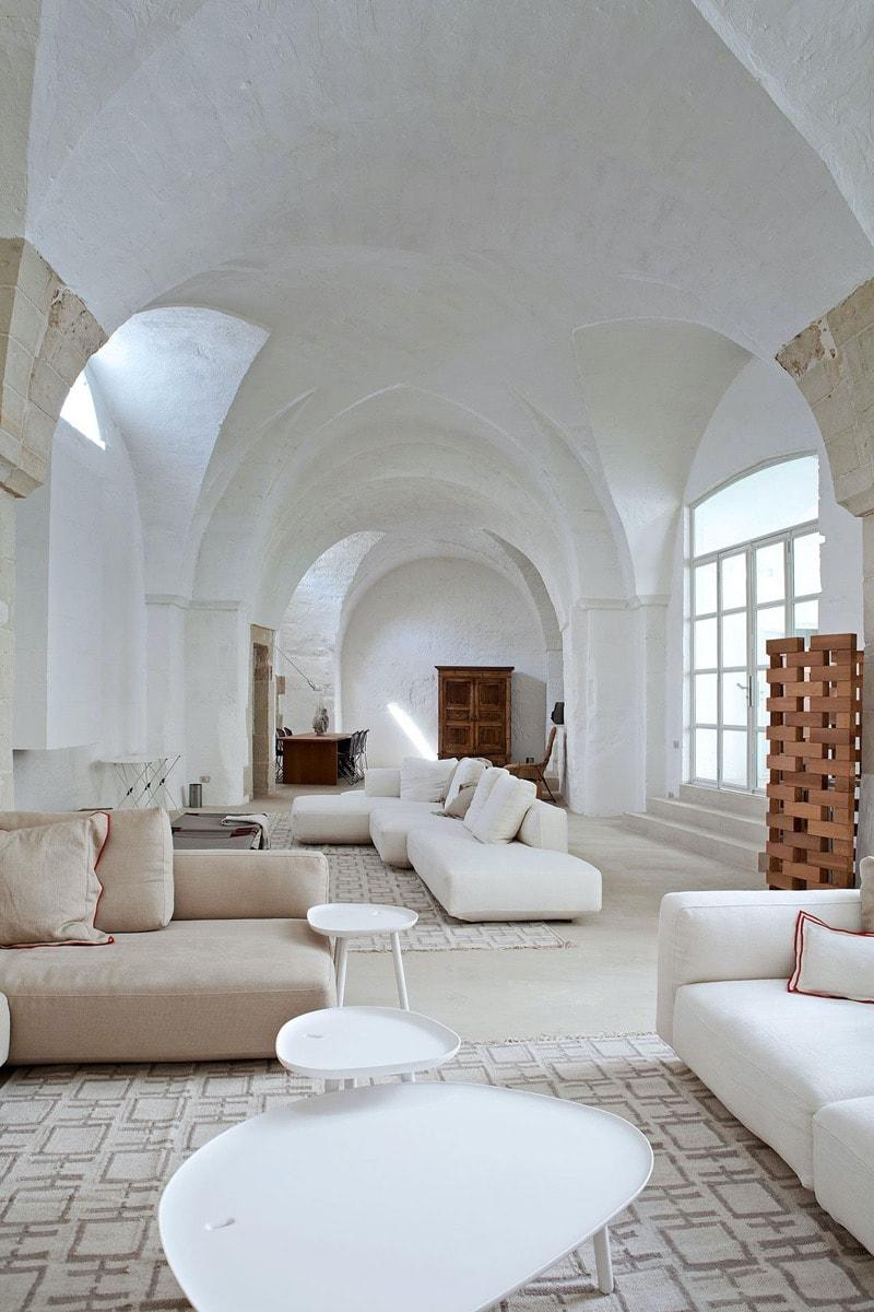 neutral italian living room