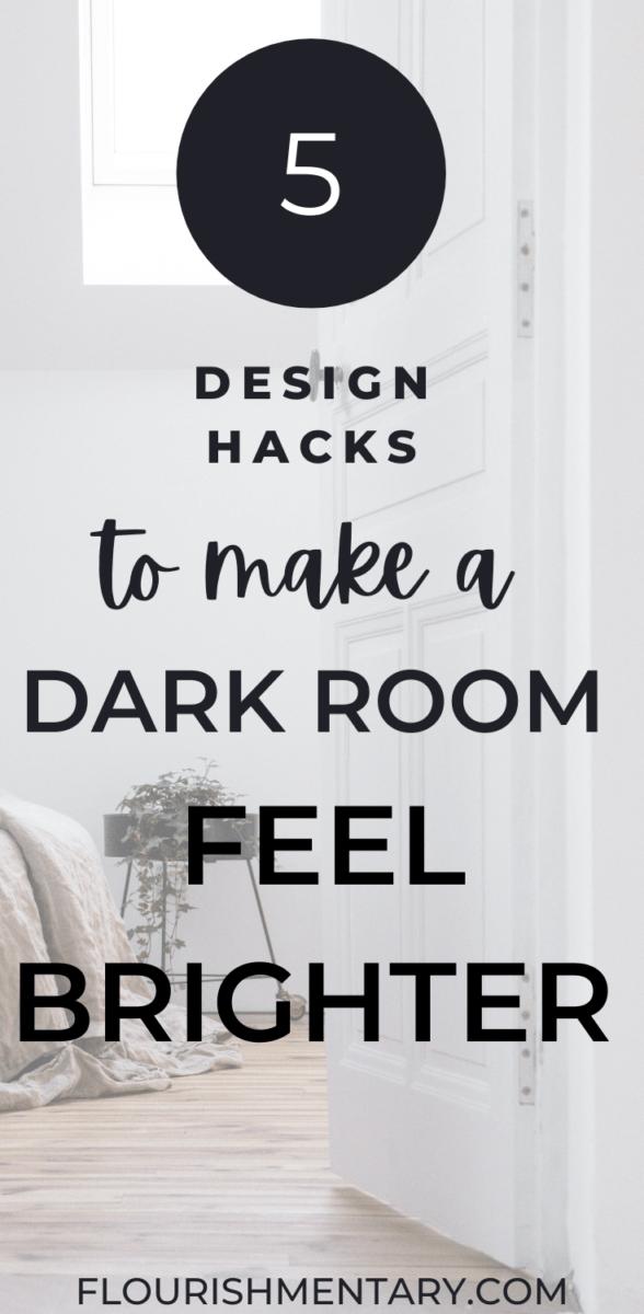 ways to make a dark room feel brighter