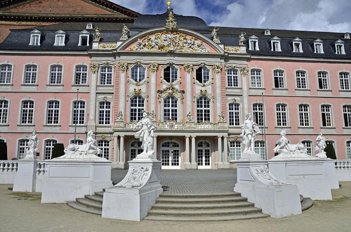 pink castle Electoral Palace (Kurfurstliches Palais), Germany