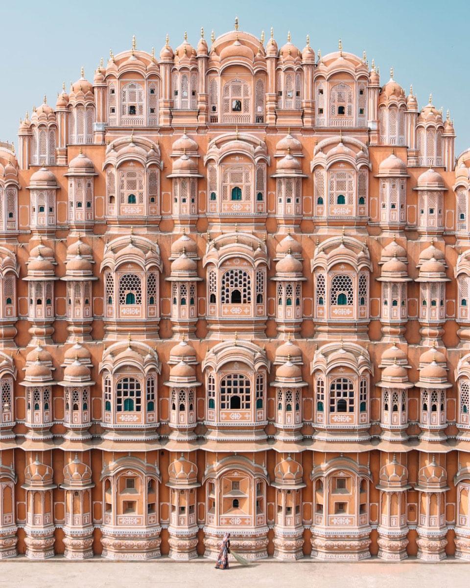 pink castle city palace Hawa Mahal, India